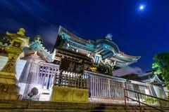 Templo de Otani Hombyo em Kyoto na noite, Japão imagens de stock royalty free
