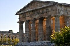 Templo de Paestum Fotografía de archivo