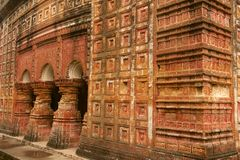 Templo de Pancharatna Govinda en Puthia, Bangladesh Imagen de archivo
