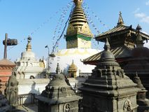 Templo de Pashupatinath, dedicado a Lord Shiva, Katmandu, Nepal fotografia de stock