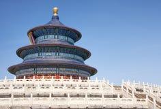 Templo de Pekín del cielo: torre y terraza. Fotografía de archivo