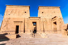 Templo de Philae do isis foto de stock