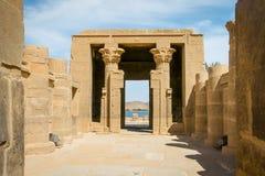 Templo de Philae, templo do Isis imagem de stock
