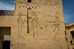 Templo de Philae, templo do Isis nile foto de stock