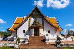 Templo de Phumin em Nan Thailand fotografia de stock