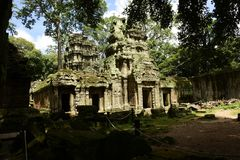 Templo de piedra artístico construido foto de archivo