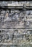 Templo de piedra de Borobudur de las tallas, JAVA Island, Indonesia imagenes de archivo