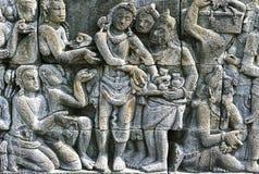 Templo de piedra de Borobudur de las tallas, JAVA Island, Indonesia fotografía de archivo libre de regalías