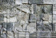 Templo de piedra de Borobudur de las tallas, JAVA Island, Indonesia fotos de archivo libres de regalías