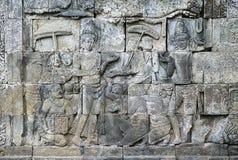 Templo de piedra de Borobudur de las tallas, JAVA Island, Indonesia imágenes de archivo libres de regalías
