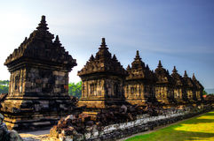 Templo de Plaosan Budhist Fotos de Stock