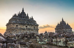 Templo de Plaosan em Indonésia Imagem de Stock Royalty Free