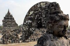 Templo de Plaosan en Java Island, Indonesia imágenes de archivo libres de regalías