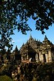 Templo de Plaosan, Indonésia Imagem de Stock