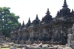 Templo de Plaosan perto de Yogyakarta na ilha Indonésia de Java fotos de stock