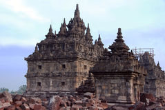 Templo de Plaosan, Yogyakarta, Indonésia foto de stock