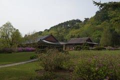 Templo de Pohyonsa, DPRK (Corea del Norte) Fotografía de archivo
