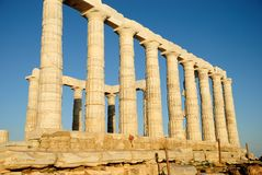 Templo de Poseidon Fotos de archivo