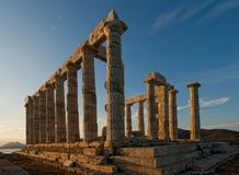 Templo de Poseidon Imagen de archivo libre de regalías