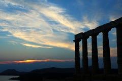 Templo de Poseidon Imagem de Stock