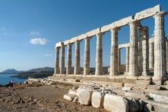 Templo de Poseidon Fotografía de archivo
