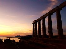 Templo de Poseidon en Sounio Grecia Fotos de archivo libres de regalías