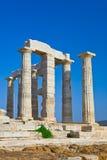 Templo de Poseidon no cabo Sounion, Greece Foto de Stock