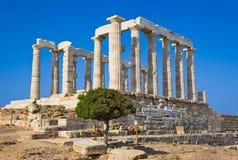 Templo de Poseidon perto de Atenas, Greece Fotografia de Stock Royalty Free