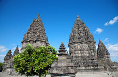 Templo de Prambanan Imagenes de archivo