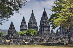 Templo de Prambanan. Foto de Stock Royalty Free