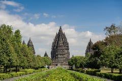 Templo de Prambanan, Indonesia 1 Imagen de archivo libre de regalías