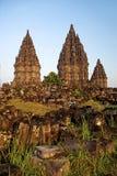 Templo de Prambanan em Indonésia Fotos de Stock Royalty Free
