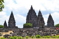 Templo de Prambanan, Yogyakarta, Indonesia Imagenes de archivo