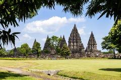 Templo de Prambanan, Yogyakarta, Java, Indonésia fotografia de stock royalty free