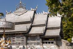 Templo de prata em Chiang Mai fotos de stock royalty free