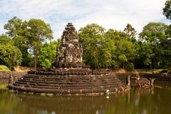 Templo de Preah Neak Pean. Angkor. Cambodia fotos de stock royalty free