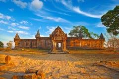 Templo de Preah Vihear Imagem de Stock