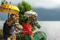 Templo de Pura Ulun Danu Bratan Hindu em Bali Fotos de Stock Royalty Free