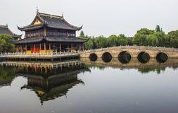 Templo de Quanfu en Zhouzhuang China Fotos de archivo libres de regalías
