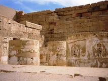 Templo de Ramses III em Medinet Habou Fotografia de Stock