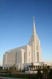 Templo de Rexburg LDS Fotos de archivo libres de regalías