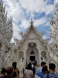 Templo de Rong Khun fotografia de stock