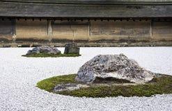 Templo de Ryoan-ji em Kyoto, Japão. Imagens de Stock