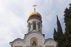Templo de São Nicolau no pagamento Lazarevskoye, Sochi Fotos de Stock Royalty Free