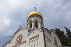 Templo de São Nicolau no pagamento Lazarevskoye, Sochi Foto de Stock