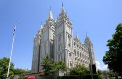 Templo de Salt Lake de los mormones en Utah Imagen de archivo libre de regalías