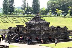 Templo de Sambisari  Fotos de archivo libres de regalías