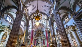 Templo de San Felipe Neri Church Mexico City Mexico royalty free stock photography