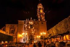 Templo de San Francisco Church San Miguel de Allende Mexico. Templo de San Francisco Church Night San Miguel de Allende, Mexico. San Francisco Church was created royalty free stock photo
