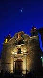 Templo de Sangre de Cristo, Oaxaca, Mexico. Night view of the Church of Sangre de Cristo in Oaxaca Mexico. Constructed in 17th century Royalty Free Stock Photos